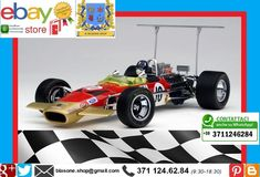 1968 EXOTO LOTUS TYPE 49B Modellino 1:18 Ford Consworth Graham Hill F1 #10