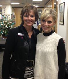Emilia Fox and LGFB Executive Director, Sarahjane Robertson #icapcharityday #lgfbuk