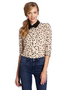 BCBGeneration Women's Contrast Collar Shirt BCBGeneration. $49.02. polyester. This is a long sleeve button down shirt.. Made in Vietnam. Hand Wash. This shirt hits at the hip.