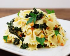 Butternut Squash Farfalle - Farfalle pasta in white wine herb sauce ...