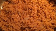 This Mexican rice is cooked with onion powder, garlic powder, and tomato sauce for an easy side dish finished in under half an hour.