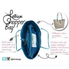 Vegan shopper reversible Letica Bag  www.leticabag.com