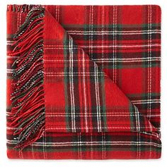 Great deal on a classic red plaid throw for Christmas!