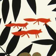 Scandinavian Fabric - Surt sa Raven by Almedahls - Fox - Cotton DIY cushions curtains crafts vintage retro Scandinavian Fabric, Diy Cushion, Fabric Shop, Etsy Uk, Retro Design, Raven, Fabric Design, Retro Vintage, Fox
