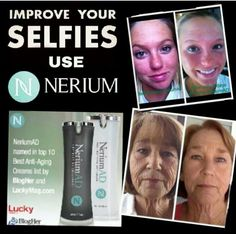 Make your selfies look better. Tone your skin get rid of wrinkles, uneven skin, and crows feet. http://DeafBeauty.nerium.com