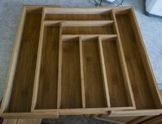 How your Bamboo tray will look when it is empty and expanded!