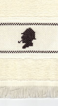 Sherlock Holmes cross stitch fingertip towel-I would smile if I came across this in someone's home.