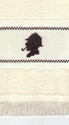 Sherlock Holmes cross stitch fingertip towel