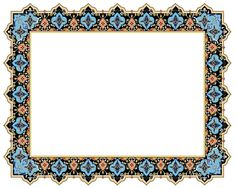Calligraphy Borders, Islamic Calligraphy, Borders For Paper, Borders And Frames, Antique Picture Frames, Vintage Frames, Alphabet Images, Classic Wallpaper, Islamic Patterns