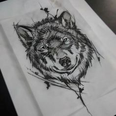 71 Wolf Sketch Tattoo