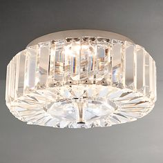 Buy John Lewis & Partners Esme Crystal Flush Ceiling Light, Chrome from our Ceiling Lighting range at John Lewis & Partners. Davey Lighting, Hall Lighting, Flush Lighting, Bedroom Lighting, Crystal Ceiling Light, Flush Ceiling Lights, Glass Ceiling, Ceiling Lighting, Hallway Decorating