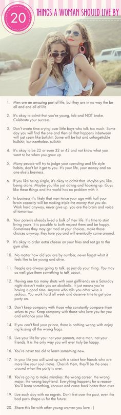 20 *Rules* Every Girl Should Live By