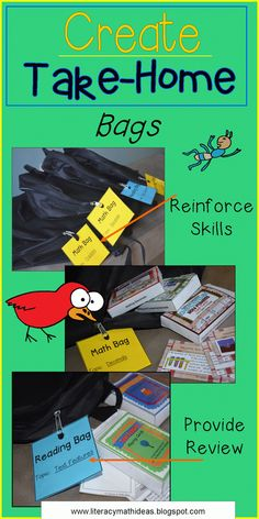 33 Best Pre K Take Home Book Bags Images Literacy Bags Home