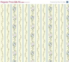 Wallpaper - Antiqued Blue Gold Delia Damask with Fine Aged Crackel - Grunge, Robin Egg, Victorian, Country French - By The Yard - GL4656so $8.75 per yard @ WallpaperYourWorld.etsy.com