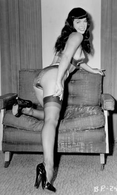 Bettie Page, the number one pinup model, she is sexy you go betty