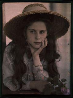 c.1907 autochrome Katherine Stieglitz, daughter of photographer Alfred Stieglitz