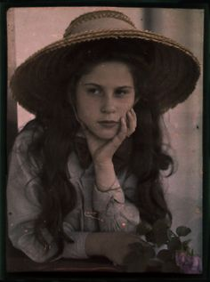 c.1907 autochrome Katherine Stieglitz, daughter of photographer Alfred Stieglitz