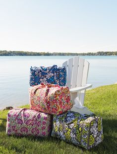 Spring 2014 Launch:  Blue Bayou, Clementine, Julep Tulip and Citron -- Large Duffel Bags