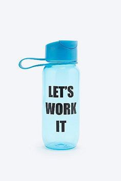 Let's Work It Out Water Bottle #covetme #urbanoutfitters