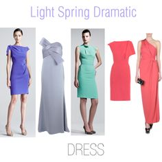 """""""Light Spring Dramatic Dresses"""" by thewildpapillon on Polyvore"""