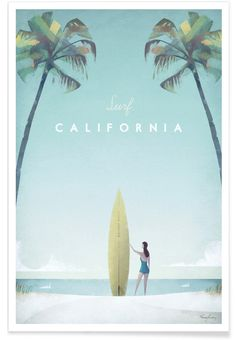 California als Premium Poster von Henry Rivers | JUNIQE