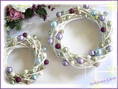 adventní věnec z proutí - Hledat Googlem Napkin Rings, Wreaths, Bracelets, Advent, Jewelry, Decor, Jewlery, Decoration, Door Wreaths