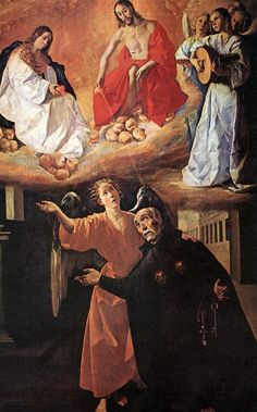 Vision of Blessed Alonso Rodriguez by Francisco de Zurbaran, Oil on canvas