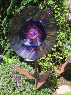 Glass Garden Flowers, All Flowers, Bird Feeders, Thrifting, Recycling, Outdoor Decor, Home Decor, Decoration Home, Room Decor