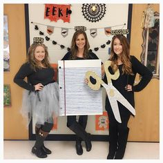 Rock the Halloween festival in style this year with a quirky Halloween costume for teachers. Get costume ideas here with materials such as ribbons, glue, bubble wrap etc. Teacher Halloween Costumes Group, Skeleton Halloween Costume, Cheap Halloween, Creative Halloween Costumes, Halloween Dress, Halloween Outfits, Happy Halloween, Halloween Season, Couple Halloween