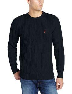 Nautica Men`s Fisherman Crew Neck Sweater - Listing price: $79.50 Now: $47.70