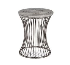 Interlude Home Pinera Side Table - Grey | Plum Goose