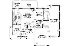 Rv Garage Home Floorplan We Love It Floorplans