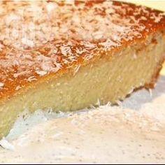 Snelle makkelijke glutenvrije kokoscake met citroen en honing