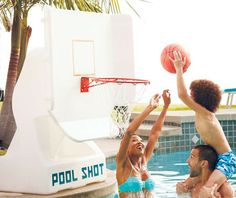 Our freestanding Pool Basketball Hoops are sturdily built to take anything you throw their way, and then some.