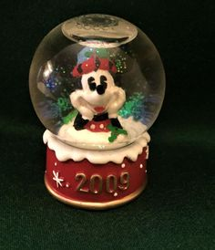Mickey Mouse Miniature SNOW GLOBE 2009 Christmas JC Penney Collectors Item #Disney