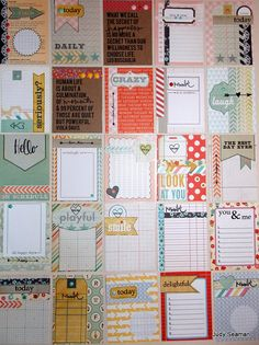 My Journaling Cards Project Life Scrapbook, Project Life Cards, Scrapbook Journal, My Scrapbook, Journal Cards, Journal Paper, Snail Mail Pen Pals, Pocket Scrapbooking, Pocket Letters