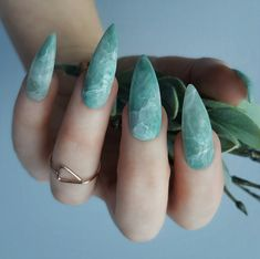 – Designer nails can really make you look fashionable and chic. Nail art is one … – Designer nails can really make you look fashionable and chic. Nail art is one way to make your nails look really good and it lets you experiment with … Marble Nail Designs, Marble Nail Art, Cute Nail Designs, Acrylic Nail Designs, Art Designs, Design Art, Stone Nail Art, Green Nail Designs, Popular Nail Designs
