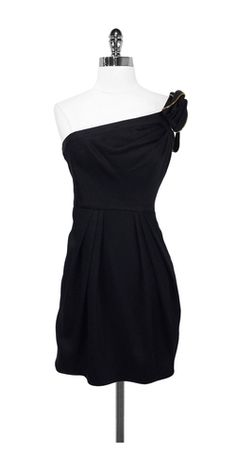 BCBG Black 1 Shoulder Dress