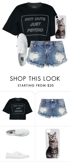 """""""./././././////././"""" by anna-mae-equils ❤ liked on Polyvore featuring One Teaspoon and Vans"""