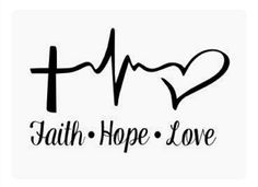 Items similar to Faith Hope Love Vinyl Decal Sticker Car Truck Boat Decal Window Sticker Kayak Decal on Etsy