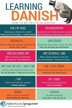 How to be polite in Danish - Learning Danish