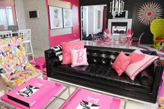 Living room at the barbie suite in the Palms in Vegas!