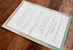 Modern Watercolor Letterpress Wedding Invitations Make Merry 550x377 Anthony + Caseys Nature Inspired Watercolor Wedding Invitations