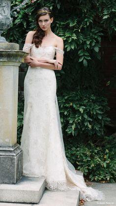 sareh nouri bridal fall 2016 off shoulder sweetheart trumpet lace wedding dress…