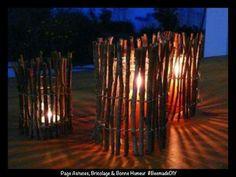 Idée photophore en bois... ...