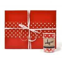 BB MINI DOT RED - 20 metres of Melboure designd and printed wrapping paper.