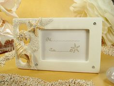 Elegant Beach Theme Placecard Holder / Photo Frame #beach #wedding