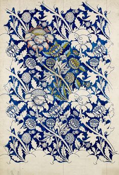 William Morris was an English artist, writer, textile designer and socialist associated with the Pre-Raphaelite Brotherhood and English… William Morris Wallpaper, William Morris Art, Arts And Crafts Movement, Textile Patterns, Textile Prints, Print Patterns, Tattoo Patterns, Pattern Vegetal, Impression Textile