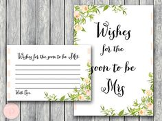 Wishes for the Bride to be Card Wishes for the by BrideandBows
