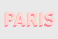 pink in Paris #tipography